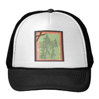Garden Plants House Scene Art Design Outdoors Trucker Hat