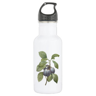 garden plum(Prunus domestica) by Redouté Water Bottle