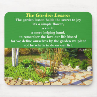 Garden Poetry Quote Mouse Pad