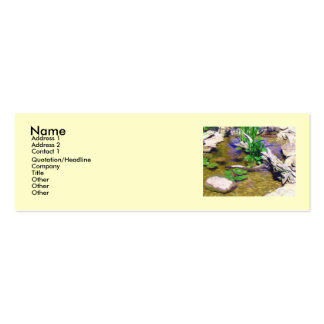 Garden Pond Profile Cards Business Cards