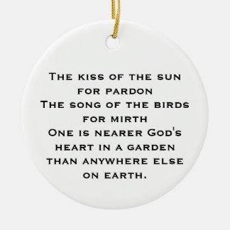 Garden Prayer Ornament