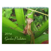 Garden Predators 2014 Calendar
