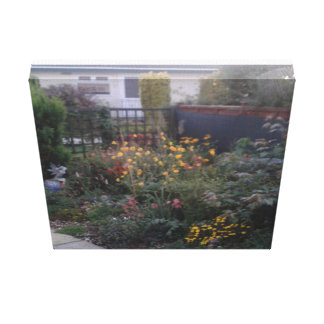 "Garden print canvas 12"" x 12"" x 1.5"""