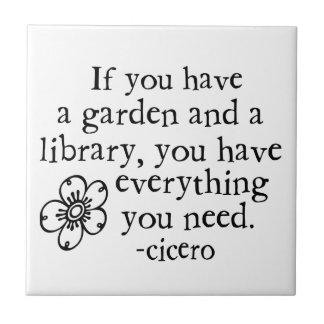 Garden Quotes Tile