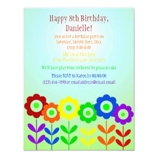 Garden Rainbow 4.25x5.5 Paper Invitation Card
