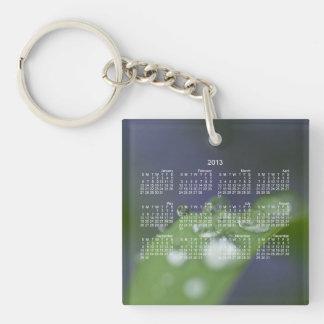 Garden Raindrops; 2013 Calendar Keychain