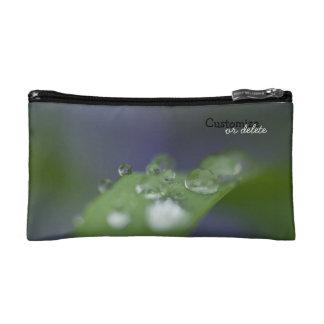 Garden Raindrops Customizable Makeup Bags