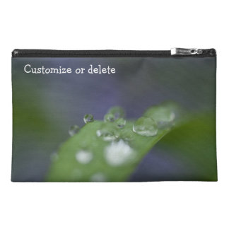 Garden Raindrops; Customizable Travel Accessory Bags