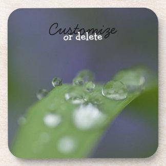 Garden Raindrops; Customizable Beverage Coaster