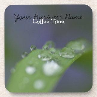 Garden Raindrops; Promotional Beverage Coaster