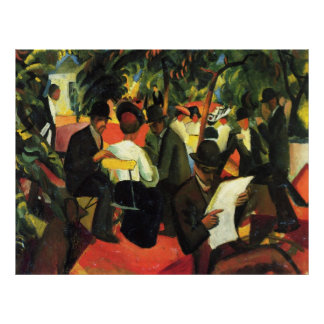 Garden Restaurant, by August Macke Posters