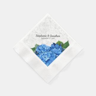 Garden Romance Blue Hydrangea Floral Napkins
