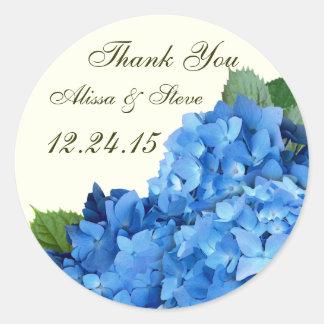 Garden Romance Hydrangea Wedding Favor Labels