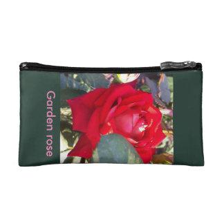 Garden rose cosmetic bag