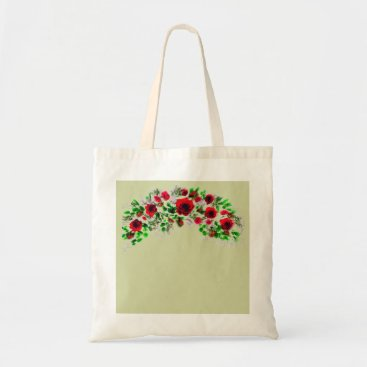 Beach Themed Garden Rose Watercolour Graphic Tote