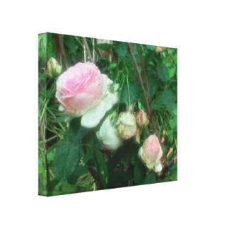 GARDEN ROSES FLORAL ART CANVAS BEAUTIFUL!