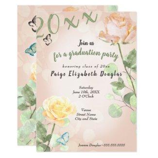 Garden Roses Graduation Invitation