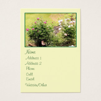Garden Roses Large Profile Business Card