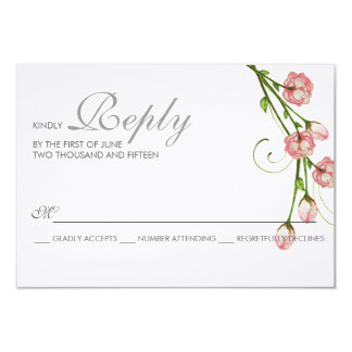 Garden Roses RSVP Card