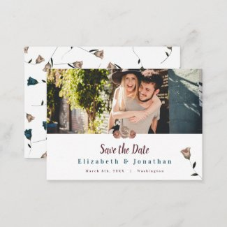 Garden Roses Save the Date Cards