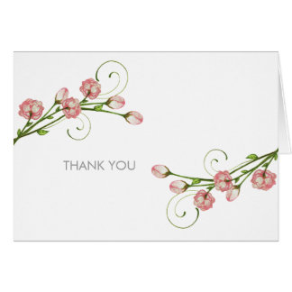 Garden Roses Thank You Notes Stationery Note Card