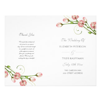 Garden Roses - wedding program