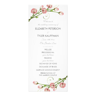 Garden Roses Wedding Program