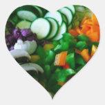 Garden Salad Heart-Shaped Stickers