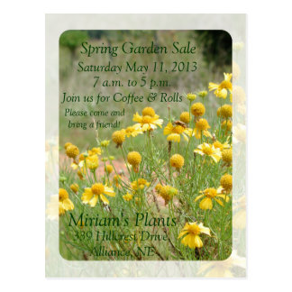 Garden Sale Invitation Postcard