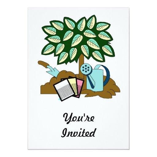 Garden Scene 5x7 Paper Invitation Card