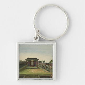 Garden Scene, c.1820-40 (w/c on paper) 2 Keychain