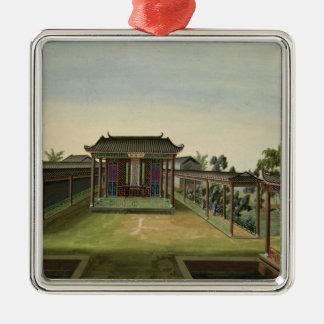 Garden Scene, c.1820-40 (w/c on paper) 2 Metal Ornament