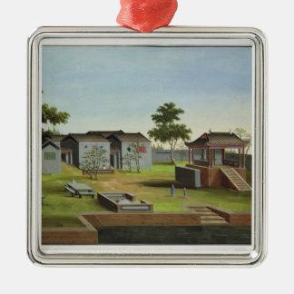 Garden Scene, c.1820-40 (w/c on paper) 3 Metal Ornament