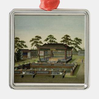 Garden Scene, c.1820-40 (w/c on paper) 4 Metal Ornament