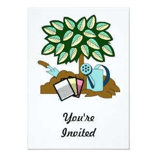 "Garden Scene 5"" X 7"" Invitation Card"