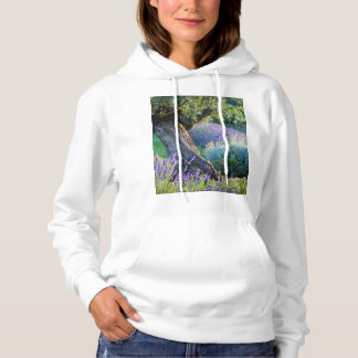 Garden scenic with flowers, France Hoodie