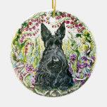 Garden Scottie Ornament