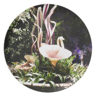Garden Sculpture Melamine Plate