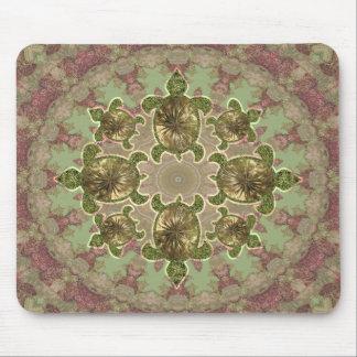 Garden Sea Turtle Pattern Mousepad