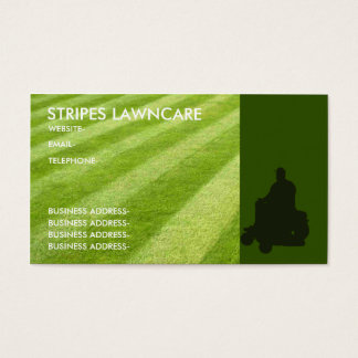 Garden services business card