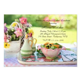 Garden Setting Luncheon Invitation