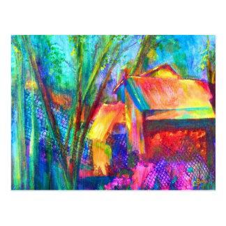 """""""Garden Shed"""" Art Postcard"""