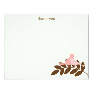 """Garden Silhouettes Flat Thank You Notes 4.25"""" X 5.5"""" Invitation Card"""