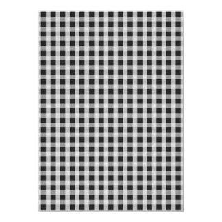 Garden Sludge Grey Gingham Check Plaid Pattern Card