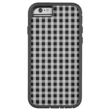 Beach Themed Garden Sludge Grey Gingham Check Plaid Pattern Tough Xtreme iPhone 6 Case