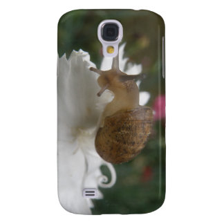 Garden Snail and White Carnation  Galaxy S4 Case