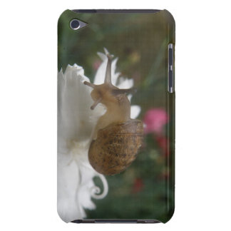 Garden Snail and White Carnation  iPod Case-Mate Case