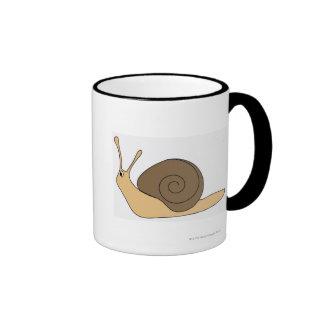 Garden Snail Ringer Coffee Mug