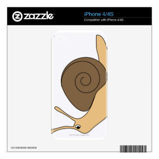 Garden Snail Skin For The iPhone 4S
