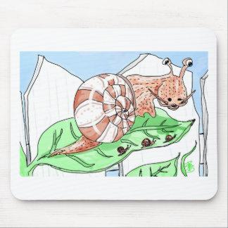 Garden Snails Mouse Pad